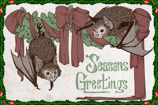 Bats Season's Greetings W border